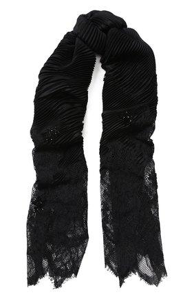 Женская ажурный палантин VALENTINO черного цвета, арт. QT2EEA00/YLJ   Фото 1