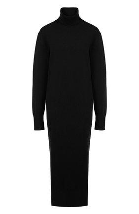 Шерстяное платье-миди с высоким воротником Joseph темно-зеленое | Фото №1
