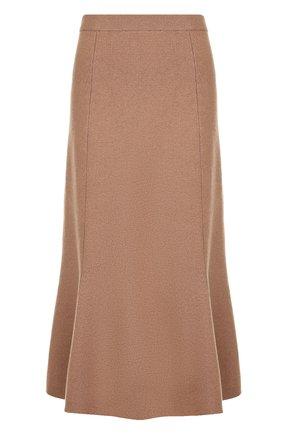 Однотонная юбка-миди из шерсти Joseph черная | Фото №1