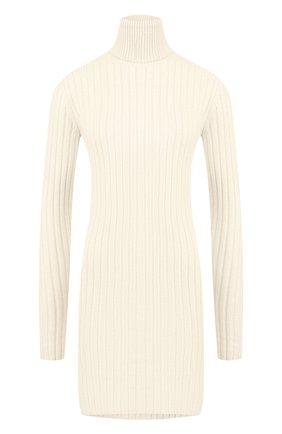 Удлиненный шерстяной пуловер с высоким воротником Joseph кремовый | Фото №1