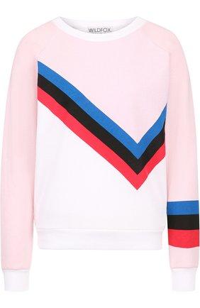 Пуловер с круглым вырезом и принтом Wildfox разноцветный   Фото №1
