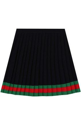 Плиссированная юбка из шерсти | Фото №1