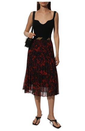 Плиссированная юбка-миди с принтом By Malene Birger разноцветная   Фото №1