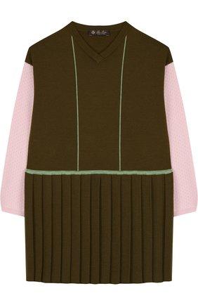 Шерстяное платье с плиссировкой   Фото №1