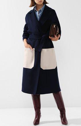 Кожаные сапоги с внутренней меховой отделкой Le Silla бордовые | Фото №1