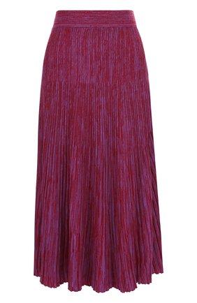 Вязаная шерстяная юбка-миди в складку Marni розовая | Фото №1