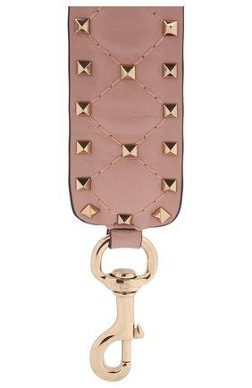 Женские кожаный ремень для сумки valentino garavani rockstud spike VALENTINO светло-розового цвета, арт. QW1P0P37/NAP | Фото 2
