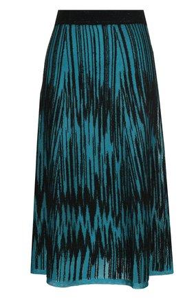 Вязаная юбка-миди с эластичным поясом   Фото №1
