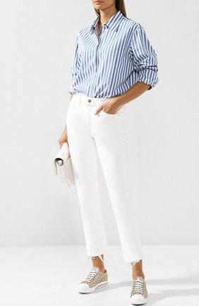 Кеды с глиттером на шнуровке Miu Miu золотые | Фото №1