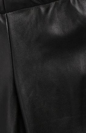 Детские леггинсы с лампасами Ermanno Scervino черного цвета | Фото №3