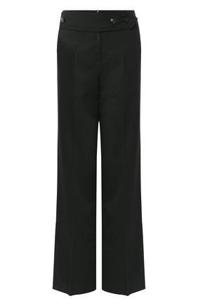 Однотонные брюки с завышенной талией Victoria Beckham зеленые | Фото №1