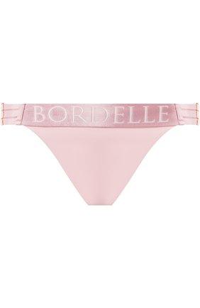 Однотонные трусы-слипы с логотипом бренда Bordelle черные | Фото №1
