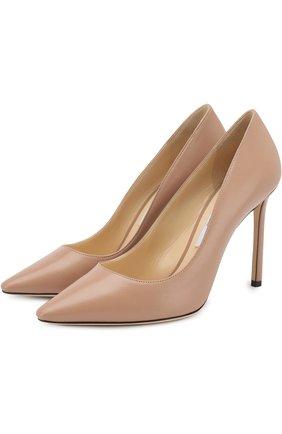 Кожаные туфли Romy 100 на шпильке   Фото №1