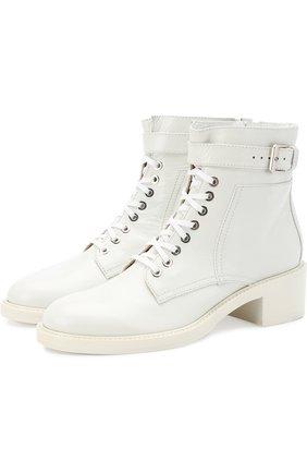Кожаные ботинки Solene на шнуровке | Фото №1