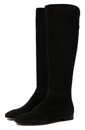 Женские замшевые сапоги jeanne LORO PIANA темно-серого цвета, арт. FAI2299 | Фото 1