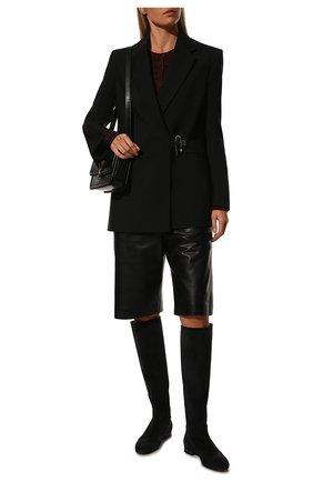 Женские замшевые сапоги jeanne LORO PIANA темно-серого цвета, арт. FAI2299 | Фото 2
