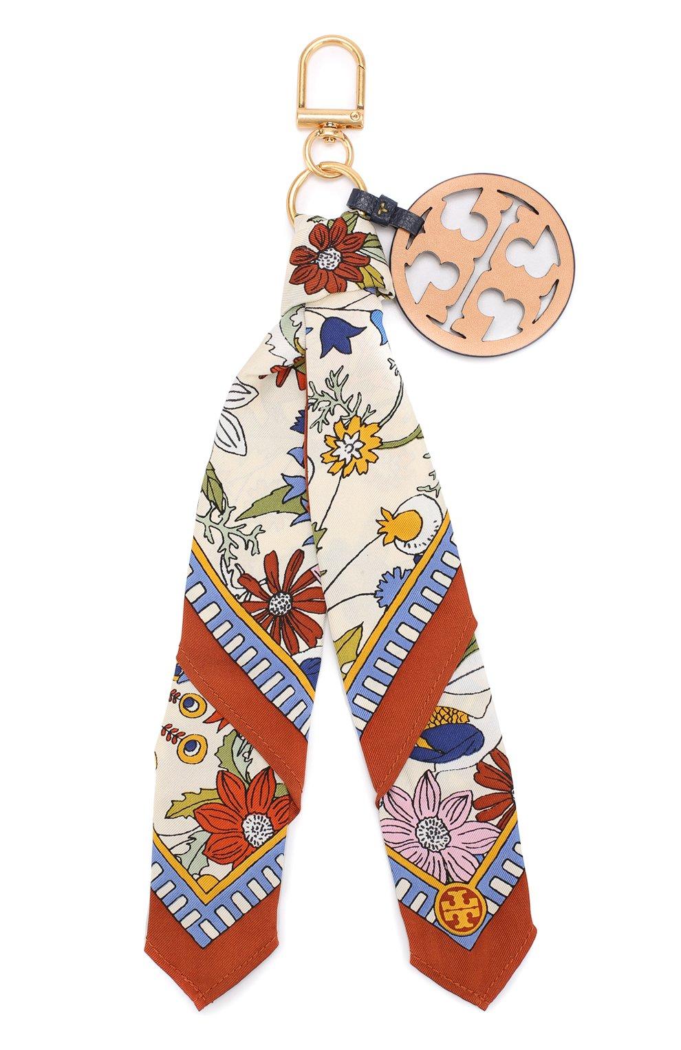 Текстильный брелок с кожаной подвеской   Фото №1