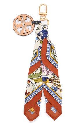 Текстильный брелок с кожаной подвеской   Фото №2