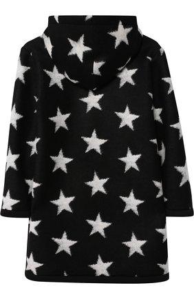 Пальто прямого кроя на молнии с капюшоном Jakioo черного цвета | Фото №1