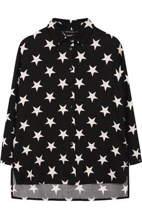 Детская удлиненная блуза из вискозы Jakioo черного цвета | Фото №1