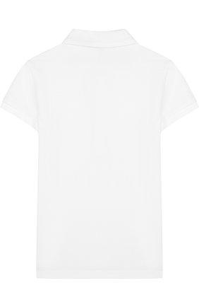 Детское хлопковое поло с вышивкой POLO RALPH LAUREN белого цвета, арт. 312714129 | Фото 2