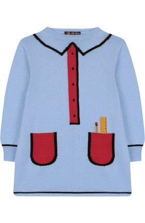 Кашемировое мини-платье с контрастный принтом   Фото №1