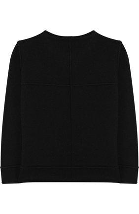 Детский пуловер из смеси шерсти и вискозы NUNUNU черного цвета   Фото №1