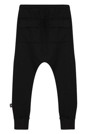 Хлопковые джоггеры с заниженной линией шага NUNUNU черного цвета   Фото №1