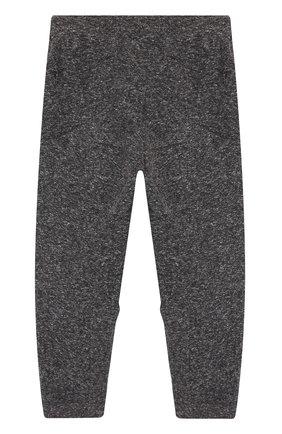 Джоггеры с заниженной линией шага NUNUNU темно-серого цвета   Фото №1