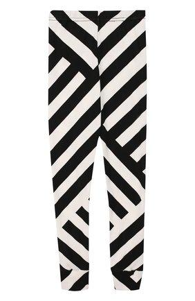 Хлопковые брюки с принтом NUNUNU черного цвета   Фото №1