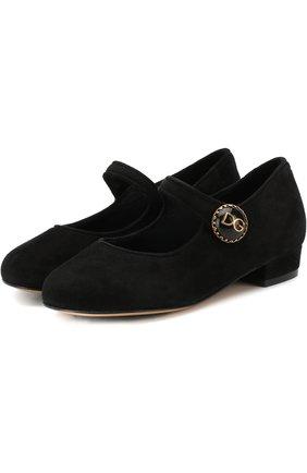 Замшевые туфли с пряжкой | Фото №1