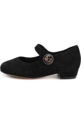 Замшевые туфли с пряжкой | Фото №2