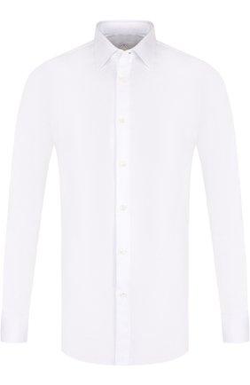 Хлопковая сорочка с воротником кент Pal Zileri белая | Фото №1