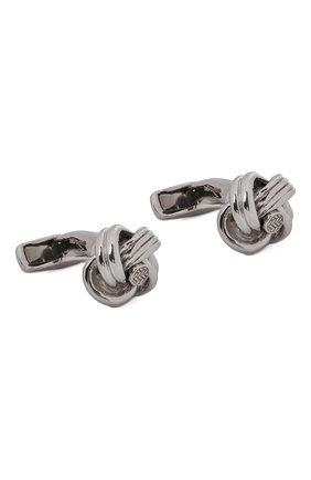 Мужские серебряные запонки ERMENEGILDO ZEGNA серебряного цвета, арт. ZCL0955 | Фото 1