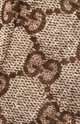 Женские колготки с принтом GUCCI бежевого цвета, арт. 523697/3GA35 | Фото 2