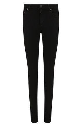 Однотонные джинсы-скинни  | Фото №1