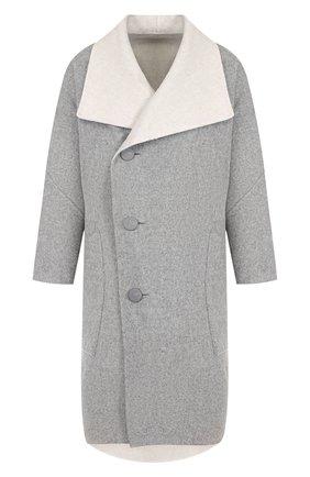 Двустороннее пальто из смеси шерсти и кашемира с накладными карманами | Фото №1