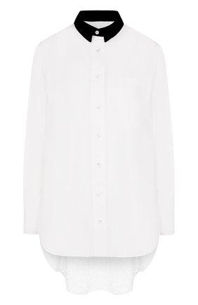 Женская блуза свободного кроя с кружевной вставкой на спине Sacai, цвет белый, арт. 18-03973 в ЦУМ   Фото №1