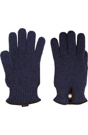 Шерстяные вязаные перчатки Paul&Shark серые | Фото №1