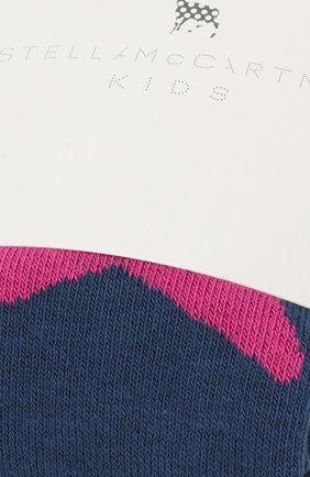 Детские хлопковые колготки Stella McCartney синего цвета | Фото №2