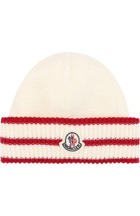 Шерстяная шапка с фактурным отворотом | Фото №1