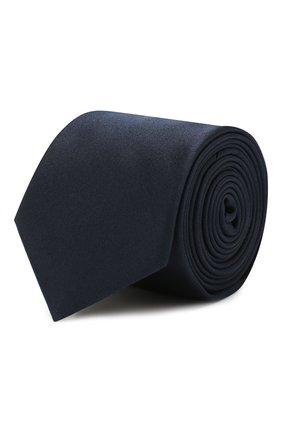 Мужской шелковый галстук HUGO темно-синего цвета, арт. 50324569 | Фото 1