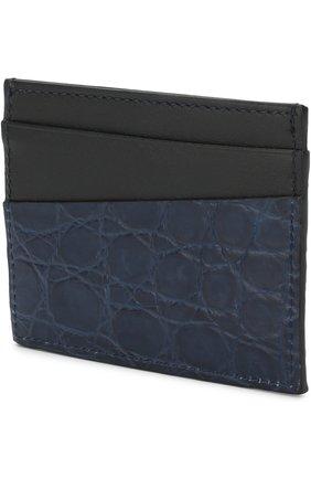 Мужской футляр для кредитных карт с отделкой из кожи каймана DOLCE & GABBANA синего цвета, арт. BP0330/A2Q71/CYAC | Фото 2
