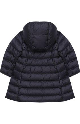 Детского стеганое пальто на молнии с капюшоном MONCLER ENFANT темно-синего цвета, арт. D2-951-49372-05-53048 | Фото 2