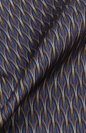 Шелковый платок Zilli темно-синий | Фото №1