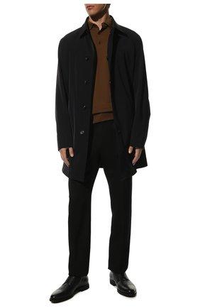 Мужские кожаные дерби BARRETT темно-синего цвета, арт. 111U016.39/CERV0 ASP0RTABILE | Фото 2