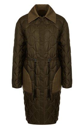 Двустороннее пальто с отложным воротником и карманами Altuzarra хаки   Фото №1