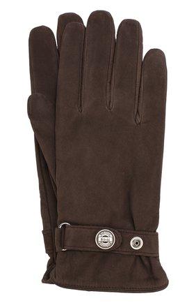 Утепленные перчатки из нубука | Фото №1