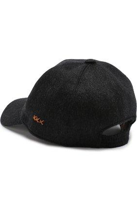 Мужской кашемировая бейсболка ZEGNA COUTURE темно-серого цвета, арт. Z4I82/B2I | Фото 2