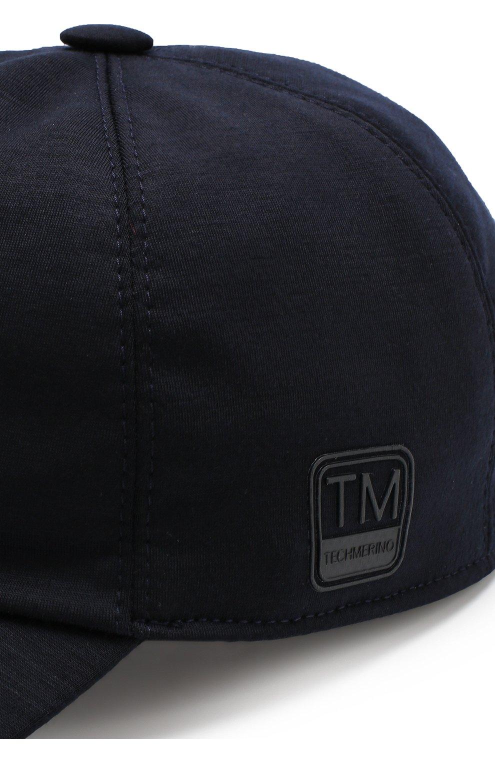 Мужской шерстяная бейсболка Z ZEGNA темно-синего цвета, арт. Z4I60/B2A | Фото 3